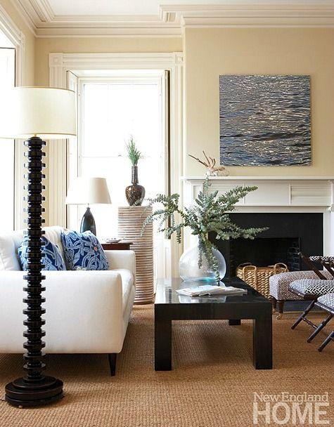 Modern Black And White Coastal Living Room Http Www
