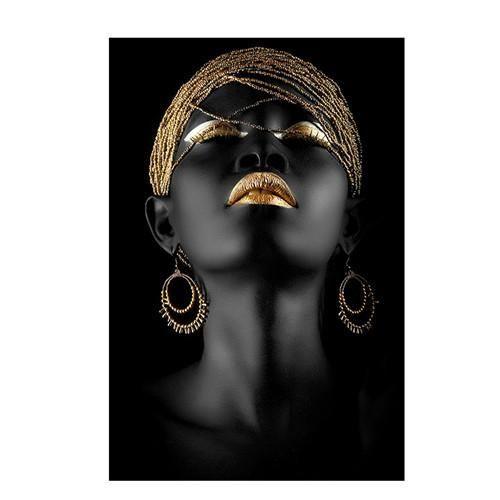 HQ Canvas Print Modern Black Woman Model Wall Art