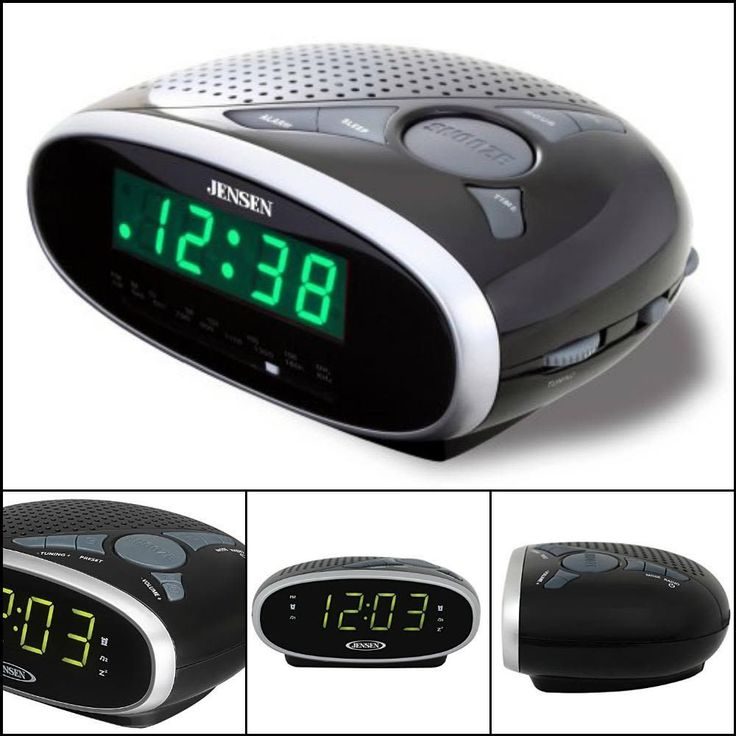 BEST Digital Clock Time Alarm LED Display with Sleep Snooze Bedroom AM FM Radio #Jensen