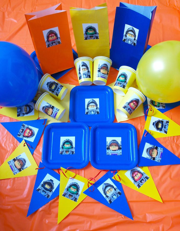 LEGO NEXO KNIGHTS Birthday Party Set/Pack/Kit - Plates, Party Bags, Decorations #PackawayParties #BirthdayChild
