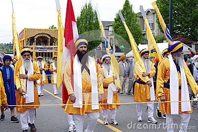 Local Sikh Temple on the streets during Vaisakhi Parade in Vancouver,Canada. Picture taken on: April 16th, 2016