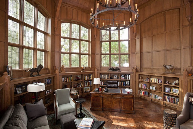 Timber Frame Library from Texas Timber Frames 3 by Texas Timber Frames, via Flickr