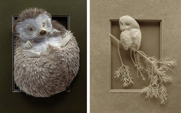 Забавный зверинец: бумажные животные Кэлвина Николлса