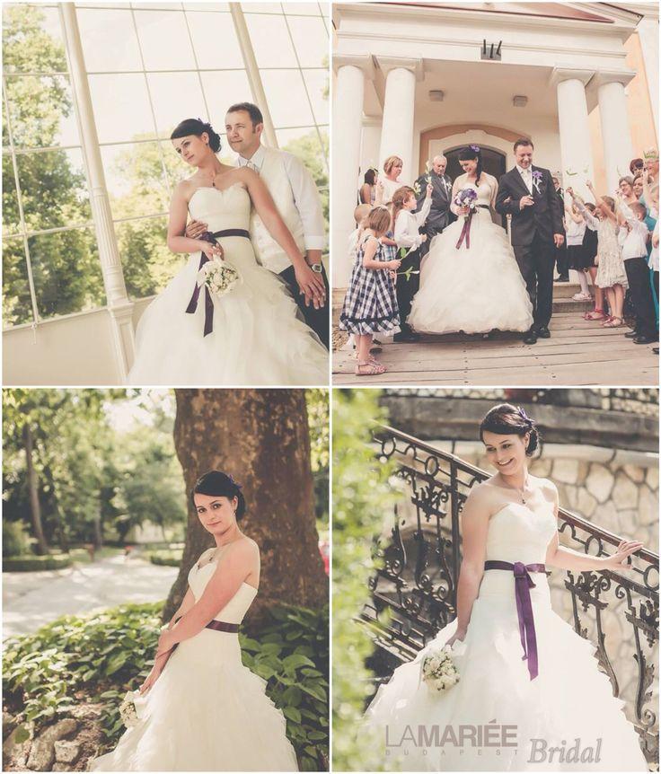 Nóra bride by La Mariée Budapest bridal  #Benicarlo dress by Pronovias