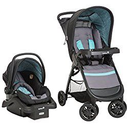 Safety 1st Amble Quad Travel System with on Board 22, Marina Blue/ Green