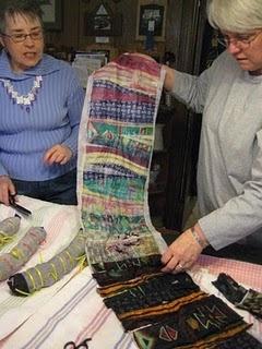 transferring silk ties onto silk scarves