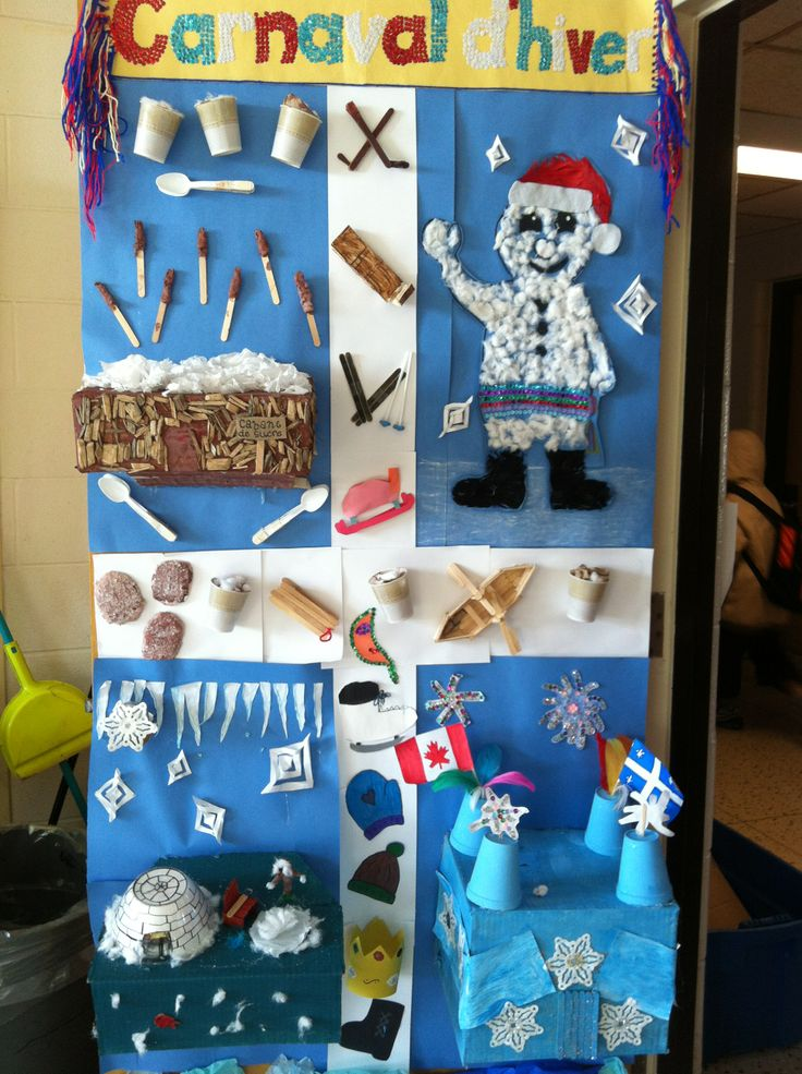 Classroom decorating contest with a Winter carnival theme.