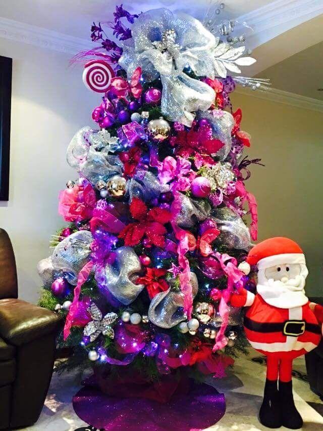 Ideas de decoración de pino pinito de Navidad 2017 – 2018 http://comoorganizarlacasa.com/ideas-de-decoracion-de-arbol-de-navidad-2016/