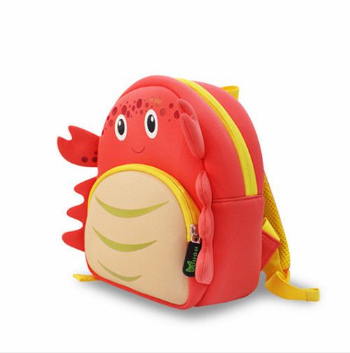 Boy Girl Kids Toddler Child Backpack Shoulder School Book Bag Cartoon Crab