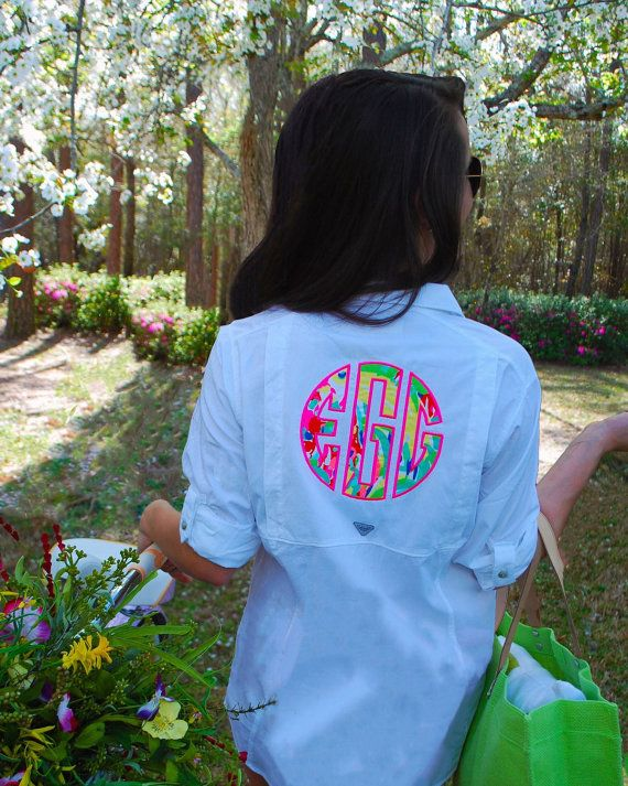 Preppy Lilly Pulitzer Monogrammed Columbia by TantrumEmbroidery
