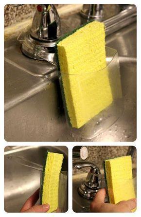 Porta esponja feito de material reciclado.                                                                                                                                                      Más