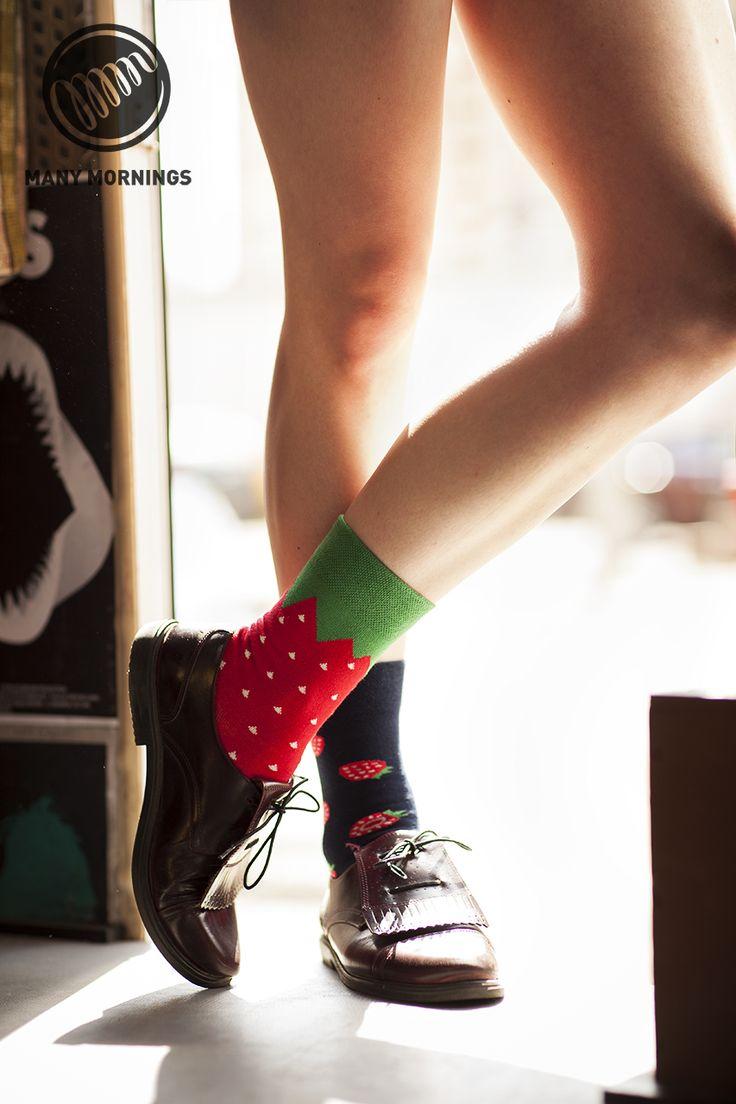 strawberries - socks by Many Mornings
