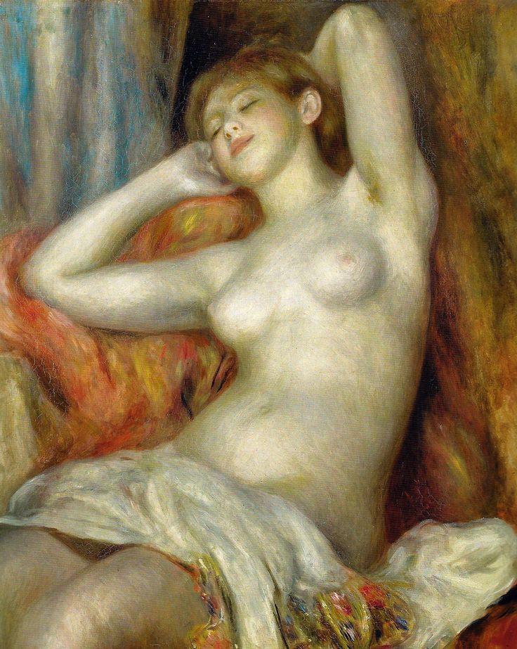 Pierre Auguste Renoir - Sleeping Woman, 1897 at Oskar Reinhart Collection Winterthur Switzerland