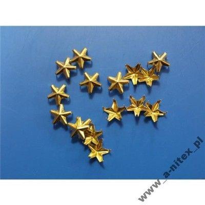 OSTRE ĆWIEKI gwiazdki gwiazdy 10mm ZŁOTE 3szt