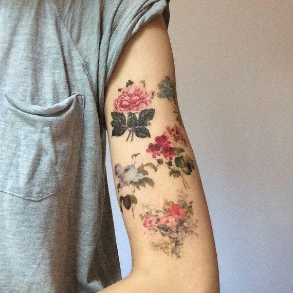 Waar Henna Tattoo Kopen: Floral Tatouage. 5 Victoriaanse Bloem Tatoeages. Liquiskin
