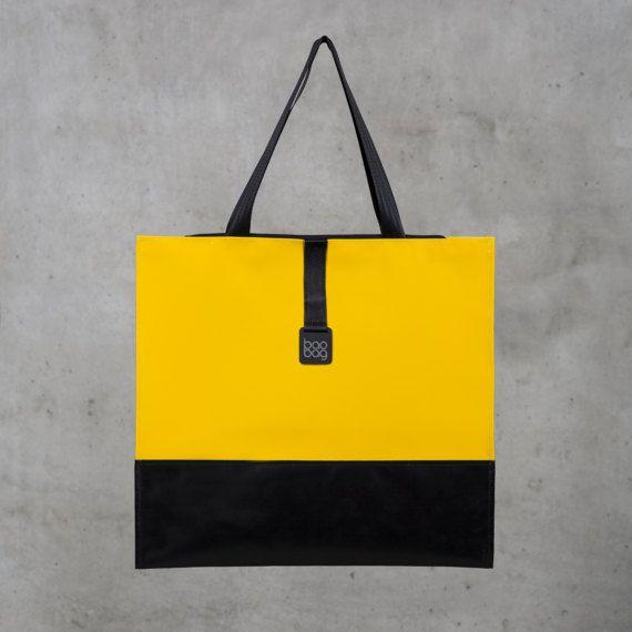 Baobag Waterproof Black/Yellow Bag Laptop Handbag made from