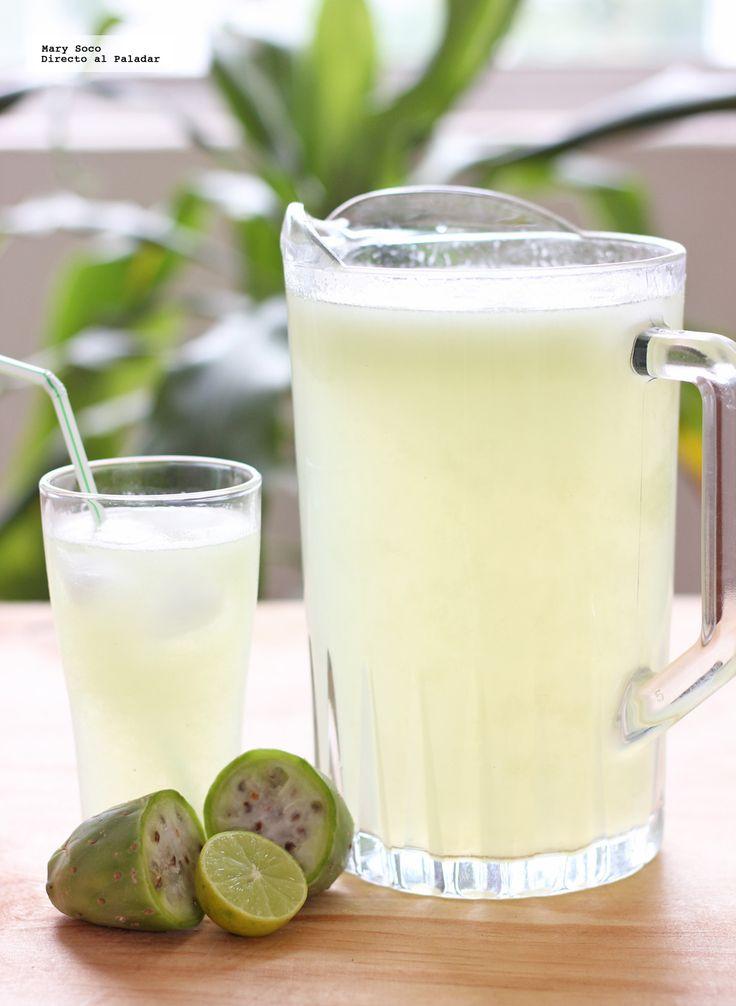 Receta de agua fresca de limón y tuna. Con fotografías paso a paso, consejos y sugerencias de degustación. Recetas de aguas frescas...