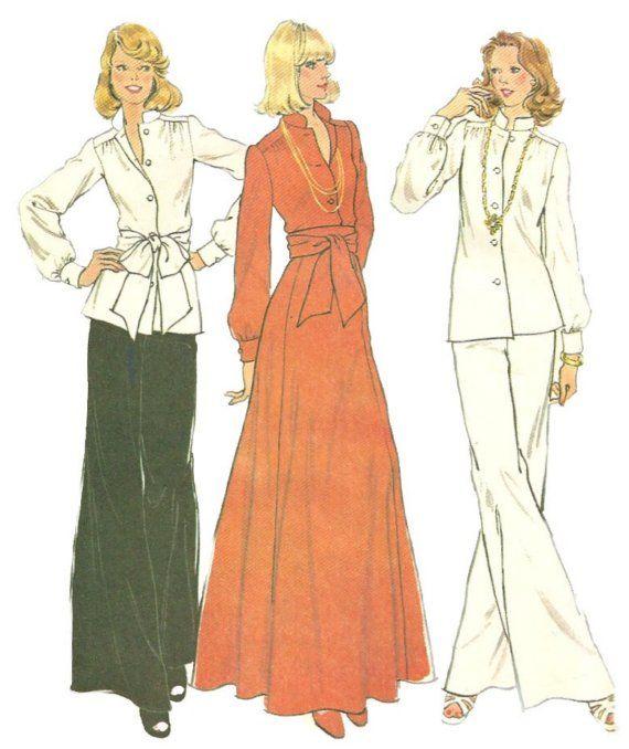 Mccallsдля 4321 1970-х скучает по блузка юбка и брюки выкройка женские винтажные…