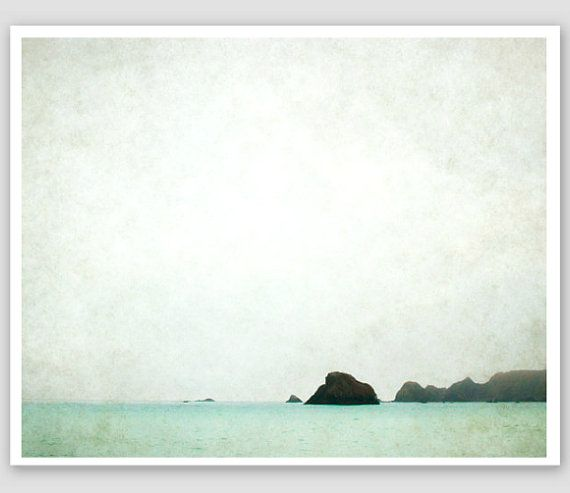 Ocean Photography  pale blue sea modern art winter by LupenGrainne, $30.00