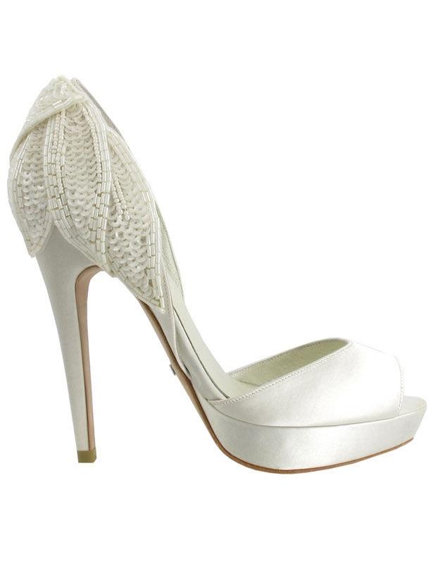 Mujer Zapatos Punto Primavera / Verano Pump Básico Zapatos de boda Tacón Stiletto Punta abierta Encaje Cosido Negro / Rosa / Marfil eABkDFreK3