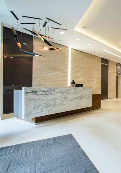 157 best images about office lobby reception for Hotel reception design