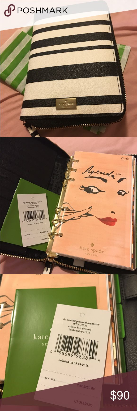 Kate Spade Agenda Planner Arbour Hill Brand new..Bought this a nmonth ago and never really used it since i bought another pink kate spade agenda... all inserts included.. kate spade Accessories