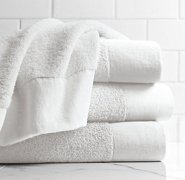 Linen-Bordered 650-Gram Turkish Towel Collection