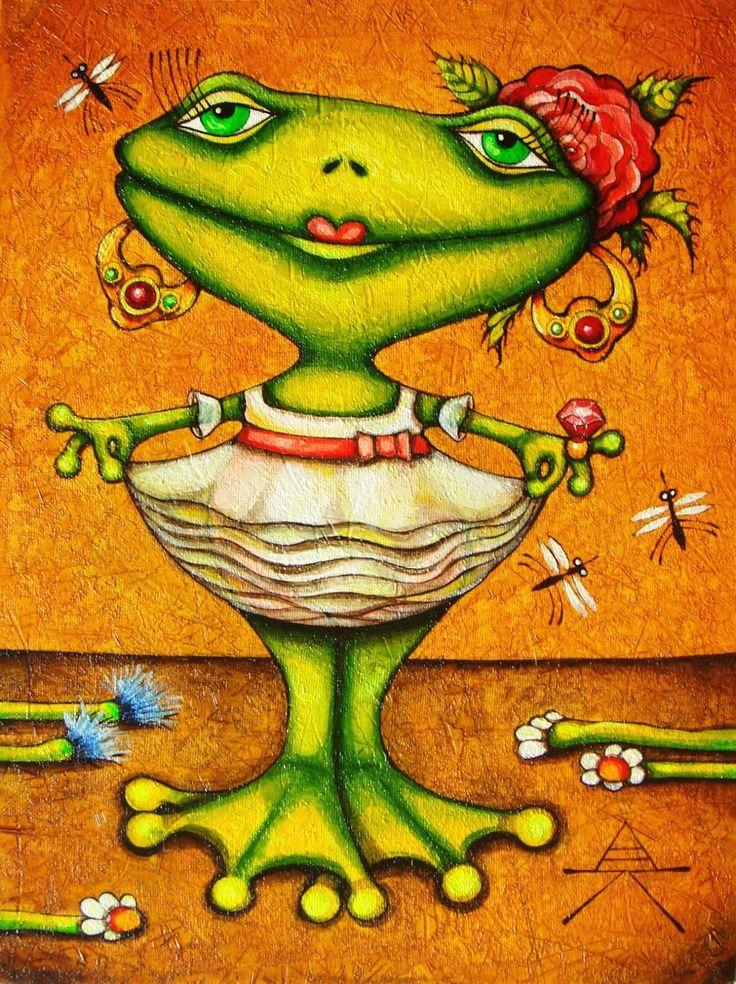 Годовщиной свадьбы, прикольные рисунки с лягушками