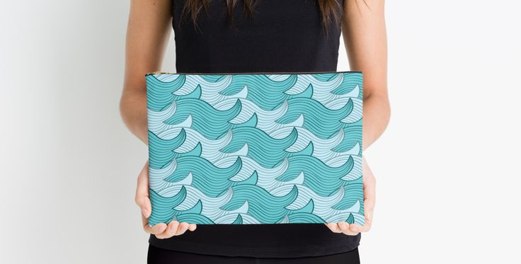 California Surf Wave Pattern Illustration by Gordon White | California Surf Small Studio Pouch Held Available @redbubble --------------------------- #redbubble #stickers #california #losangeles #la #surf #wave #cute #adorable #pattern #studiopouch #pouch #bag