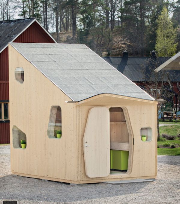 Smart And Eco-friendly Student Unit Measuring Only 10 Square Meters. It can be seen at the Virserum Art Museum in Sweden.