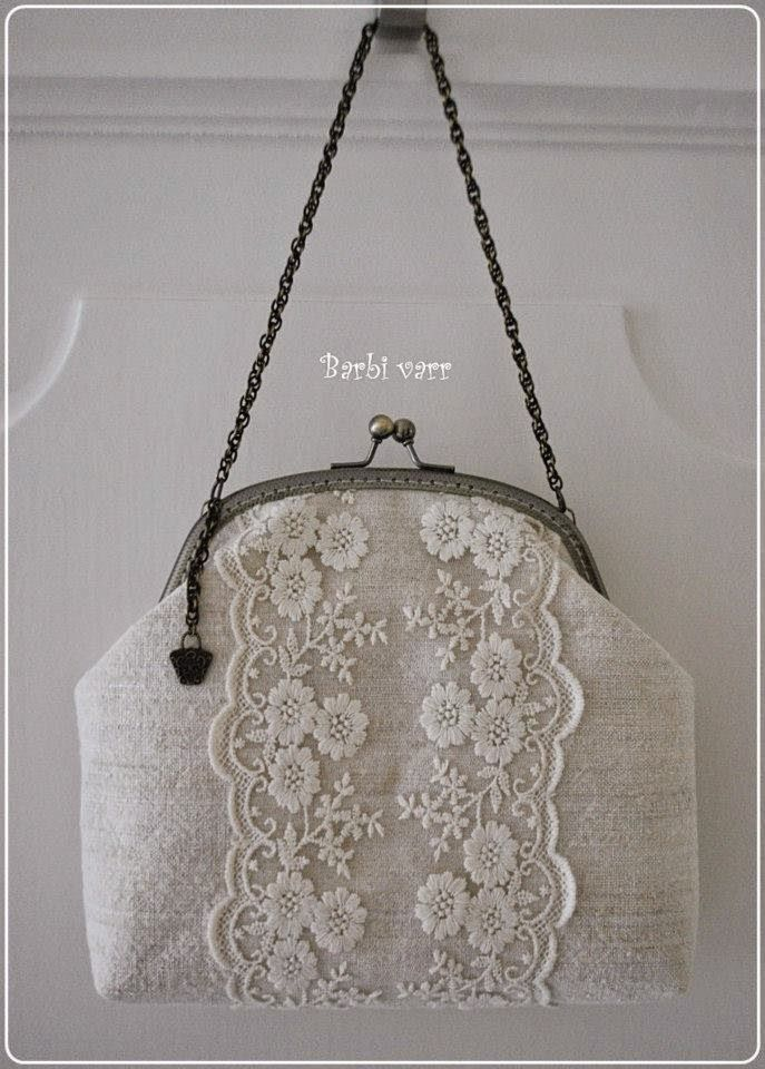 wedding purse with lace