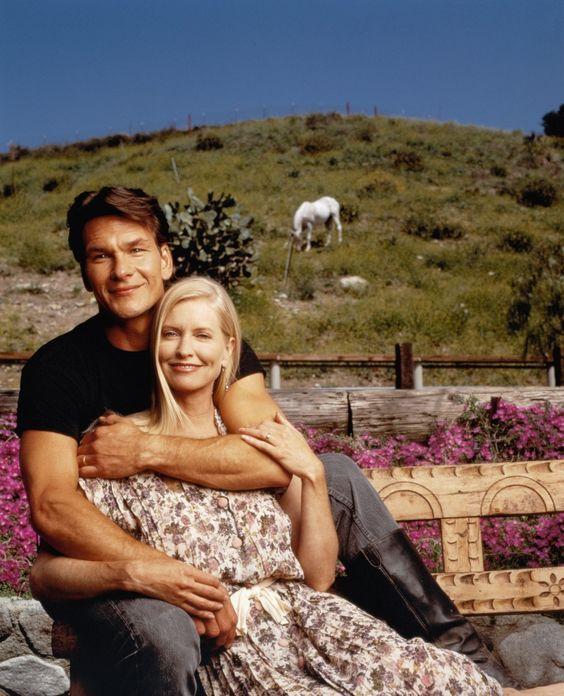 Patrick Swayze and his wife Lisa Niemi
