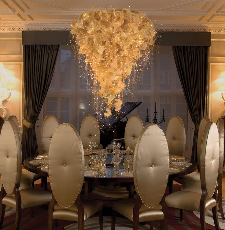 Installation of a cream Pleat light suspended from a ceiling rose above a decadent Venetian inspired dining table in the Radlett House. & 29 best Sharon Marston images on Pinterest | Ceiling lamp ... azcodes.com
