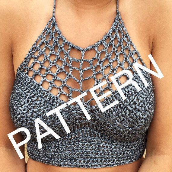 Crochet Silver Festival Halter Crop Top Pattern by TheCrocheting$6