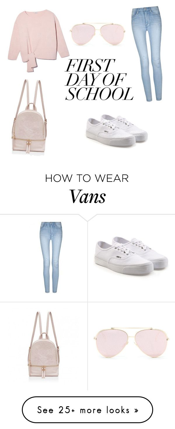 """""""FIRST DAY OF SCHOOL 2"""" by delynlorenza on Polyvore featuring Vans"""