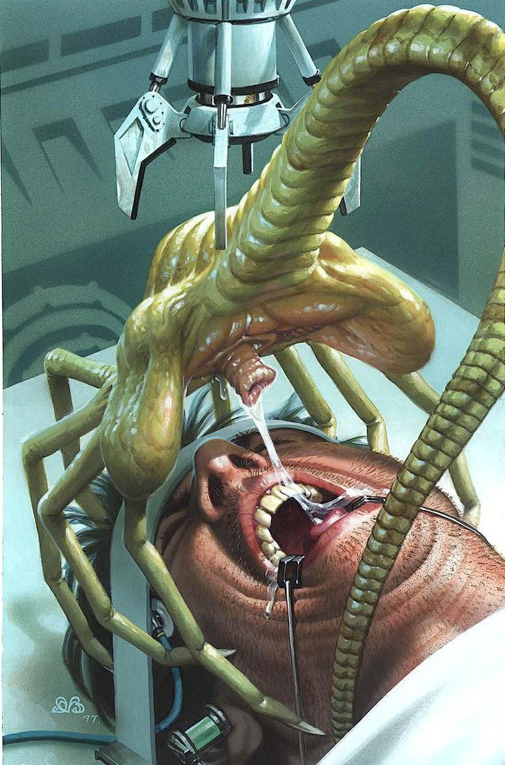 This cool art byDen Beauvais shows yet another reason to fear the dentist!