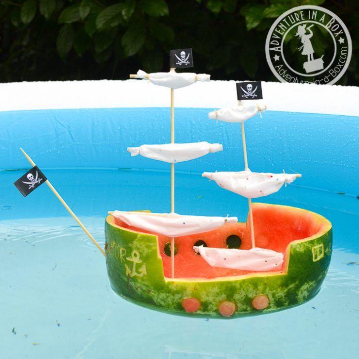 barco pirata de sandía