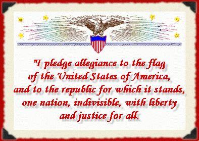 Pledge of Allegiance printable book