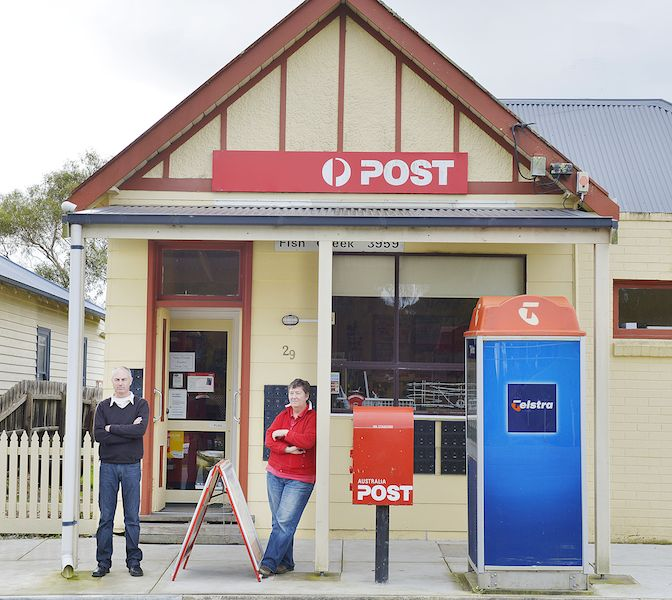 Fish Creek Post Office, home of Anna Ki homewares, collectibles and screenprinting