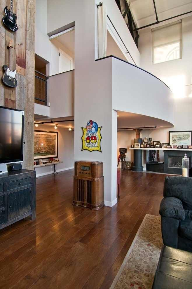 living west loop loft besch design 12 Striking Chicago Loft Artistically Displaying the Owners Guitar Collection