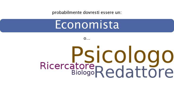 Il mio risultato è: Economista.