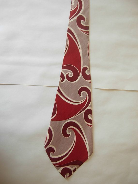 Gorgeous Satin Rayon 1930s Tie by AmericanVintagePDX on Etsy