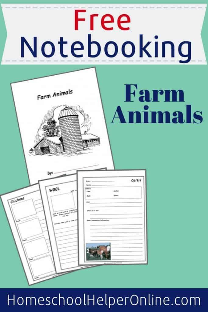 Farm Animals Notebooking Pack – Homeschool Helper Online – Teach your student about animals that live on a farm with th…