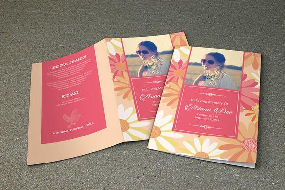 Printable Funeral Program Template | Memorial Program Template ...