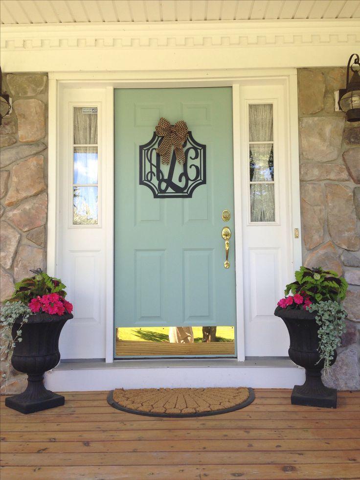79 best images about front doors on pinterest hale navy for Blue green front door