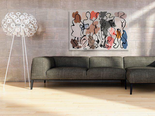 Obraz na płótnie - ABSTRAKCJA kolorowy - 120x80 cm (30301)
