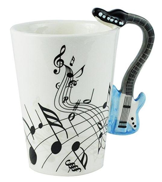 Musical Instrument Mug - Your choice of Guitar, Violin, Clarinet, or Piano