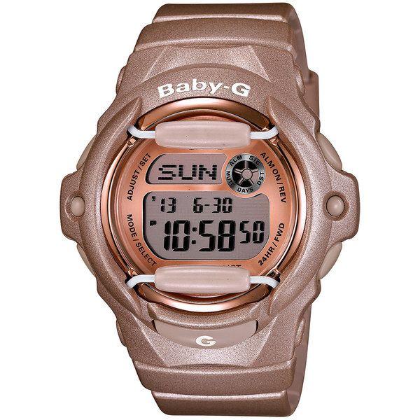 Casio Women's Baby-G BG169G-4 Pink Resin Quartz Watch with Digital Dial