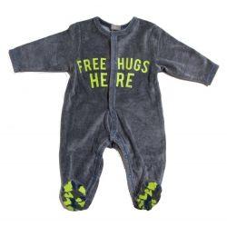 Grijze pyjama met groene accenten IKKS @monkeyandbutterfly.be