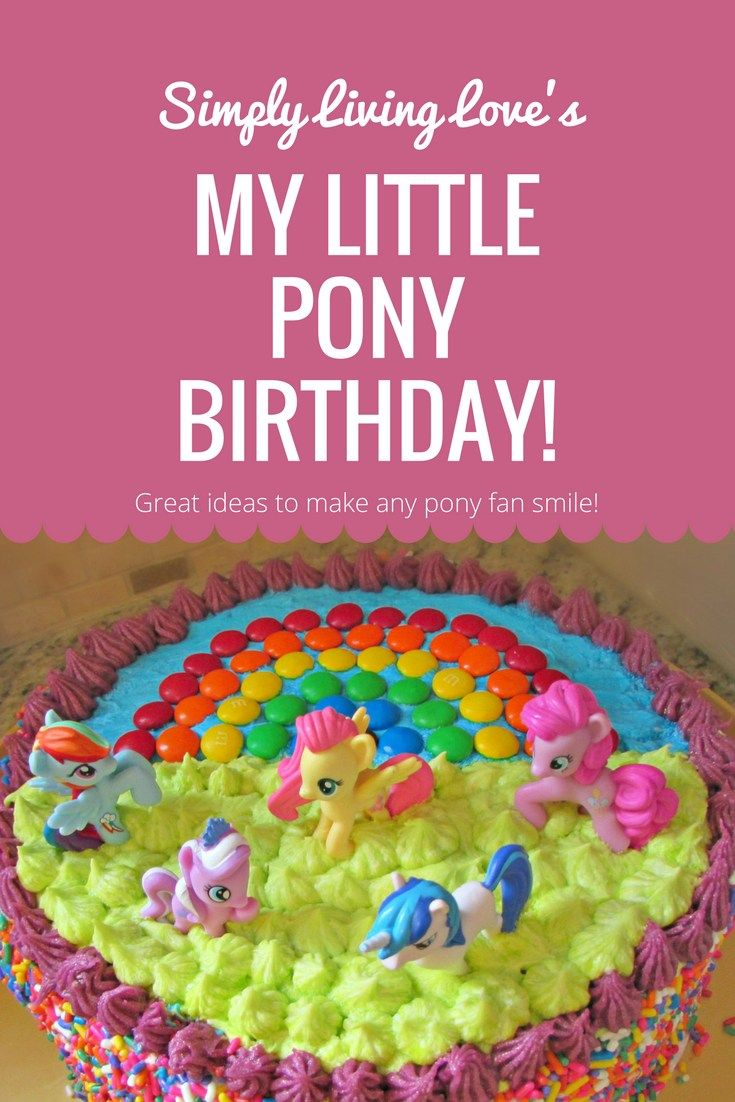 My Little Pony. If you know a little girl – you know they're back! Last year, for my daughter's sixth birthday, she insisted on a party themed around the iconic horses, and I happ…